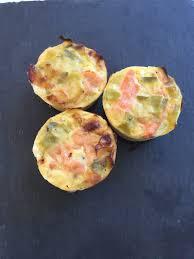 cuisiner le poireau quiche sans pâte ou muffins poireaux saumon fumé et sa