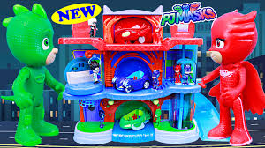 pj masks headquarters playset gekko catboy owlette hq fight