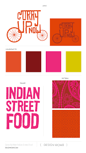 brand board curry up now indian street food design womb