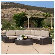 Pics Of Sofa Set Christopher Knight Home Santa Cruz 6 Piece Wicker Patio Sofa Set