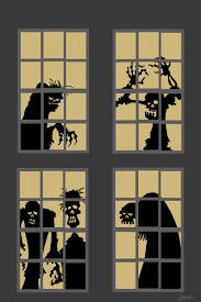 dave lowe design the blog 63 days u0027til halloween zombie window