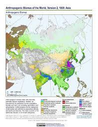 World Map 1800 by Maps Anthropogenic Biomes Of The World V2 Sedac