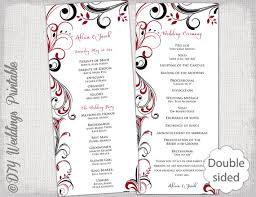 black wedding programs wedding program template black apple scroll