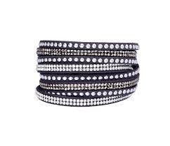 rhinestone wrap bracelet images Buy rhinestone wrap choker bracelet grey at anny gabriella ny for png