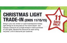 the home depot christmas light trade in 3 5 off led lights home