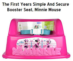 Minnie Mouse Toddler Chair The First Years Simple And Secure Booster Seat In Minnie Mouse