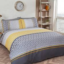 barbican single duvet cover ochre yellow free delivery over 30 on all uk orders