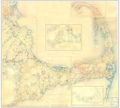 this is a 1890s topographic map of cape cod and the islands