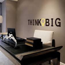 Bedroom Wall Stickers Uk Think Big U2026motivational Study Office Quote Wall Sticker Uk