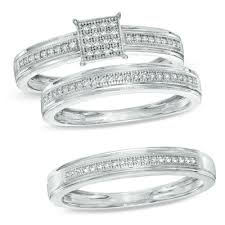 Zales Wedding Rings For Her by Trio Wedding Ring Sets His And Hers Wedding Band Sets Zales With