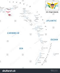 St Thomas Island Map Us Virgin Islands Outline Map Saint Thomas United States Virgin