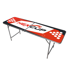 Beer Pong Table Size 6 5ft Collapsible Aluminum Beer Pong Table