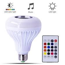 led light bulb speaker canmox led music bulb speaker multi color changing led light bulb