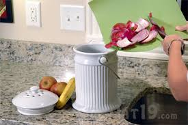 compost canister kitchen ceramic kitchen compost pail easy countertop composting crock