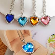 heart necklace from titanic images New titanic heart of ocean crystal rhinestone heart sharped jpg