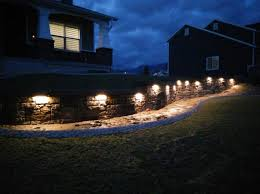retaining wall lights under cap led hardscape light 6 deck step and landscape retaining wall