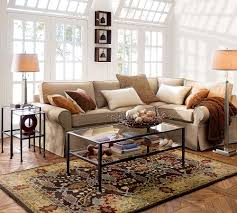 pottery barn livingroom pottery barn living room with glass table and table l pottery