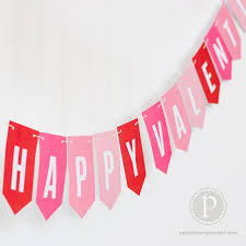 happy valentines day banner a pebbles exclusive papercraft happy s day banner 2