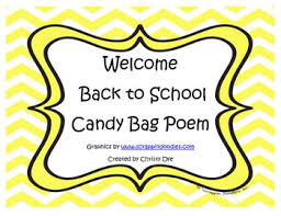 welcome back to school bag poem by lovin tpt