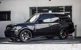 matte black range rover range rover autobiography with 24 inch c884 3 piece forged