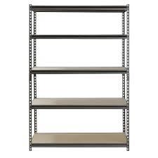 5 Shelf Wire Shelving Muscle Rack 5 Shelf Steel Shelving Silver Vein 24