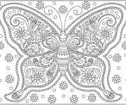 coloriage papillon difficile 8 gratuit à imprimer en ligne