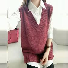 sweater vest womens 2018 wholesale autumn style s v neck sweater vest