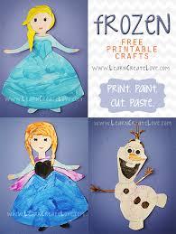 printable frozen crafts