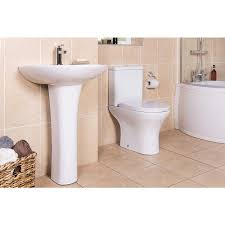 fresh curved bathroom suite with left hand p shape shower bath