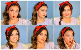 six diy 1 minute bandana hairstyles cute girls hairstyles