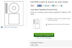 Microsoft Word Label Templates Avery create your own cd and dvd labels using free ms word templates