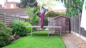 double trampoline jump to painful flip fail jukin media