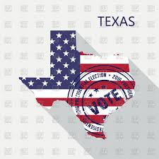 Texas State Flag Image State Of Texas Graphic Map With Flag And Presidential Day Vote
