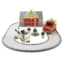 fireman sam deluxe fire station playset toys toyworld