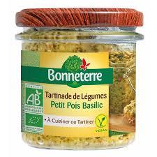 cuisiner le basilic tartinades de légumes petit pois basilic 135gr bonneterre