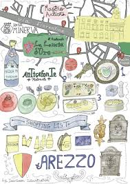 Tuscany Italy Map Culinary Tour Illustrated Food Map Of Arezzo In Tuscany Travel