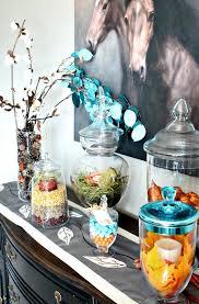 assortment of apothecary jar ideas for fall decor