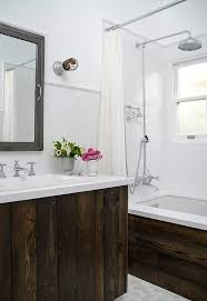 Reclaimed Wood Vanity Bathroom Los Angeles Reclaimed Wood Vanity Bathroom Transitional With