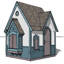 gingerbread playhouse plan u2013 playhouse planner