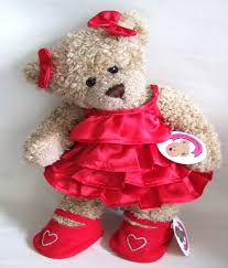 teddy clothes clothes frilly satin dress with 2 bows
