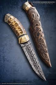 cool knife fixed damascus knife avalible andré andersson custom knives