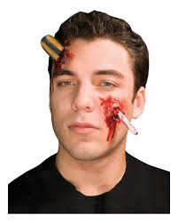 latex for halloween makeup screwdriver wound crass latex wounds for your halloween makeup