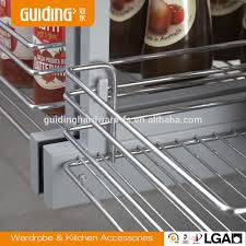 wire drawers for kitchen cabinets kitchen cabinet revolving wire basket buy revolving basket wire