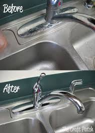 Natural Ways To Clean Your Bathroom And Go Green - Stainless steel kitchen sink cleaner