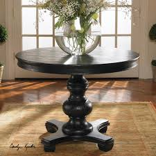 round pedestal accent table brynmore black round pedestal table 42 zin home
