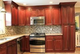 kitchen backsplash cherry cabinets kitchen tile backsplash ideas with cherry cabinets home design ideas