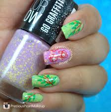 preciouspearlmakeup maybelline color show go graffiti nail lacquers