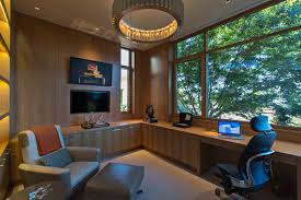 home office with tv basement tv built in home office contemporary with contemporary