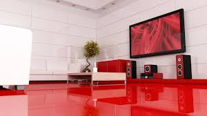 bedroom alluring interior design for living room with red wall