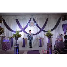purple and white wedding 2016 purple and white wedding backdrop with swags wedding drapes